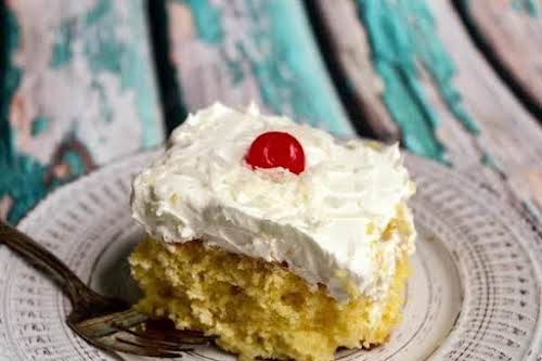 """Pina Colada Cake""""It's light and refreshing, and it is actually better after..."""