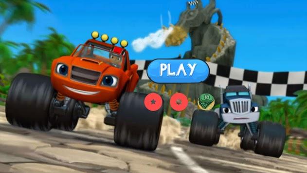 Blaze Monster Truck Machins Race 2018