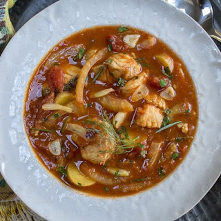 Slow Cooker Hearty Fish Soup.
