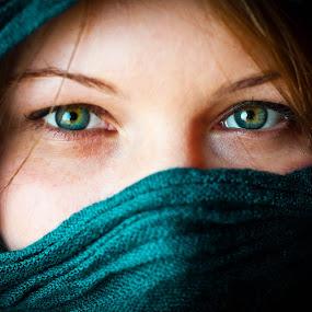 Eyes by Diána Barócsi - People Portraits of Women ( model, blue, portrait, eyes )