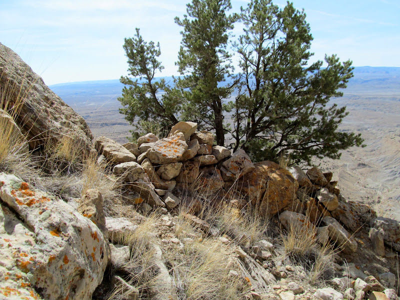 Photo: Rock wall below the notch