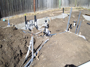 Photo: I also contracted the underground plumbing.