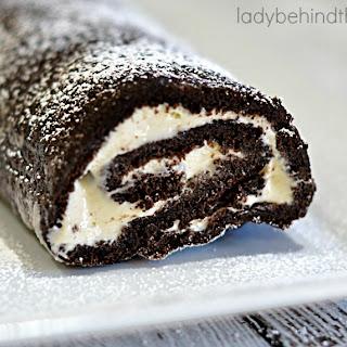 Chocolate Marshmallow Cream Cake Roll