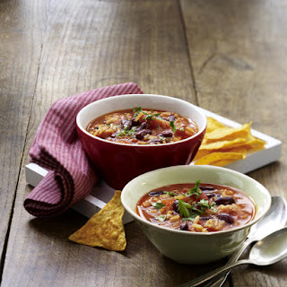 Mexican Soup with Tortilla Chips