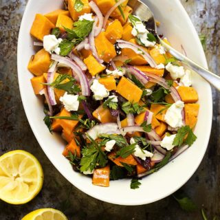 Cold Sweet Potato Salad with Cranberries and Pecans Recipe