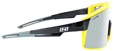 Optic Nerve Fixie Max Sunglasses - Black, Yellow Lens Rim, Smoke Lens with Silver Flash alternate image 1
