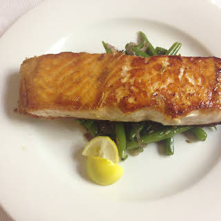 Pan Fried Salmon- Get your Fish portion for the week.