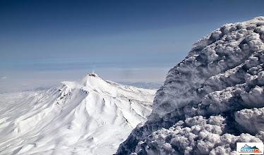Photo: Avachinsky viewed from the summit of Koryaksky (3456 m)