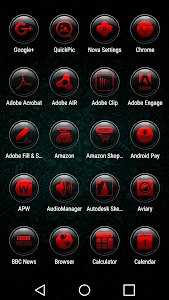 Brenn Red - Icon Pack screenshot 1