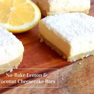 No-Bake Lemon & Coconut Cheesecake Bars