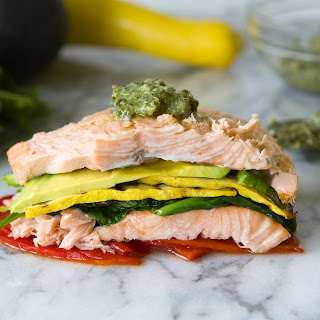 Stacked Salmon Salad