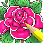 Coloring Book App for Adults - Enchanted Forest