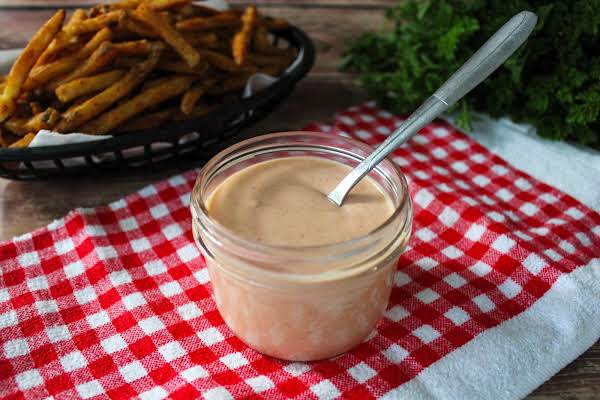 Fry Sauce In A Small Jar.
