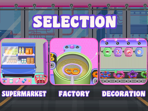 Donuts Cooking Factory: Baking Dessert in Kitchen android2mod screenshots 2