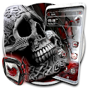 Skull Red Butterfly Theme Launcher icon