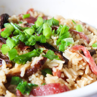 Chinese Sausage And Mushroom Simmered Rice‏