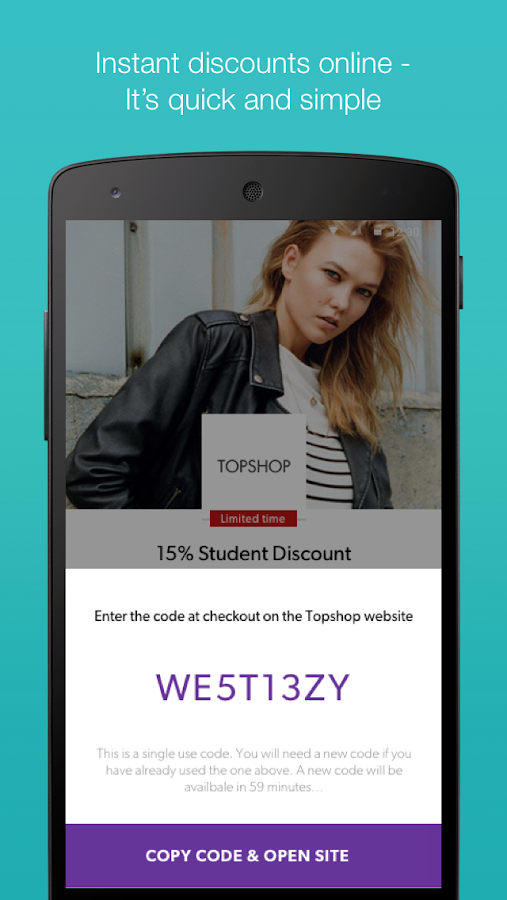 Enjoy 10% Student Discount when you shop with Topshop online at exsanew-49rs8091.ga Get now. Terms and Conditions. Other great perks. 10% Off. Limited time only! 20% Off. 10% Off. About Topshop. Bringing you cutting-edge trends and daring designer collaborations, Topshop is the ultimate fashion fix that has won the hearts of style groupies and.
