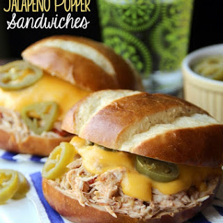 Slow-Cooker Jalapeno Popper Chicken Sandwiches.