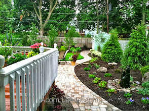 Photo: #PaverPatio and #Walkway designer and Installer,Acorn Ponds & Waterfalls, Certified Aquascape Contractor of Rochester NY since 2004. Check out our website www.acornponds.com and give us a call 585.442.6373.  To learn more about Landscape Design please click here: www.acornponds.com/landscape-design.html  For More info about Geoff and Karen's amazing project please visit www.facebook.com/notes/acorn-landscaping-landscape-designlightingbackyard-water-gardens/landscape-design-installation-walkway-patio-rock-fountain-waterfall-in-penfield-/238744206162709  Sign up for your personal design consultation here: www.acornponds.com/contact-us.html  Acorn Ponds & Waterfalls of Rochester NY, 585-442-6373, is a Certified Aquascape Contractor, Landscape Designer, Outdoor Lighting Designer, Installer, Builder, Contractor and Design Service Company from Rochester, NY. We have professional Installation and Design Services available for the following: Landscape Design Outdoor Room Design Backyard Ponds and Waterfalls Design & Construction Patios and Walkways: Paver, Stone, Brick Low Voltage Landscape Lighting LED Landscape Lighting Swimming Ponds Ecosystem Ponds LED Outdoor Lighting Retaining Walls Fountains Water Features Pondless Waterfalls Pond Maintenance and Design Aquatic and Under Water LED Lights Bubbling Boulders and Urns Natural Stone Patios and Rock Gardens Garden Ponds Outdoor Kitchens Pizza Ovens Fire Pits Fish or Koi Ponds Waterfall Ponds Low Maintenance Plantings Commercial Landscape Design Residencial Landscape Design Drainage Issues, Solutions Aquascape Rainwater Collection Systems  We serve Pittsford NY, Penfield NY, Brighton NY, Fairport NY, Webster NY, Greece NY, Victor NY, Henrietta NY, Irondequoit NY, Rush NY  Check out our photo albums on Pinterest here: www.pinterest.com/acornlandscape/  Click here for a free Magazine all about Ponds and Water Features: http://flip.it/gsrNN  Acorn Ponds & Waterfalls  585.442.6373 www.acornponds.com