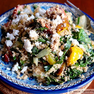 Grilled Greens Salad with Couscous