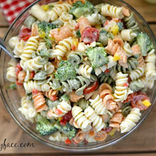 Broccoli and Tomato Pasta Salad.
