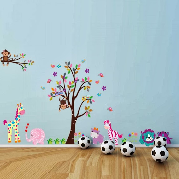 Colorful wall stickers