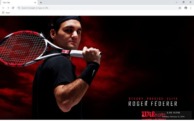 Roger Federer New Tab & Wallpapers Collection
