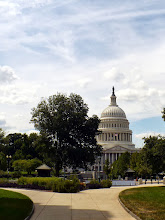 Photo: The US Capitol from the north lawn of the Library of Congress.