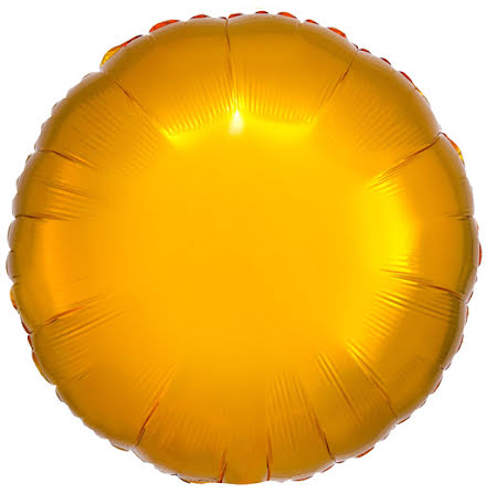 Folieballong, rund metallic guld 43 cm