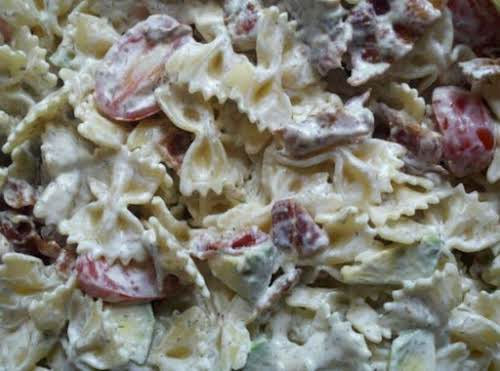 "Avocado, Bacon, Tomato Pasta Salad ""It was really good. And, I have..."