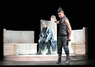Photo: Wiener Kammeroper: LA CLEMENZA DI TITO. Premiere 13.4.2014. Inszenierung: Alberto Triola. Andrew Owens, Gaia Petrone. Copyright: Barbara Zeininger
