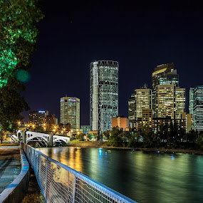 Calgary by night  by Rick Pelletier - Novices Only Landscapes (  )