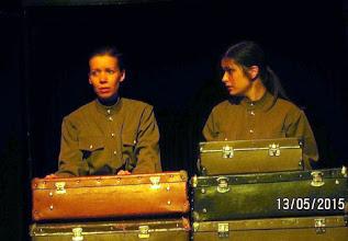 """Photo: Сцена из спектакля """"У войны не женское лицо"""""""
