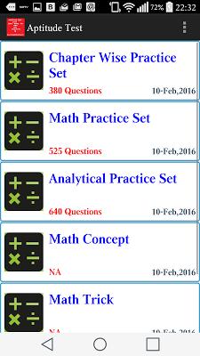 Aptitude Test - screenshot