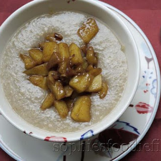Sophie's Gluten Free Buckwheat Porridge With Apple Juice & Cinnamon Apples With Caramelised Coconut Blossom Sugar
