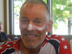 Photo: Days 29, 30, 31 Mitchell and Sioux Falls SD, How we look after 75 miles of riding in the heat. The smiles are because we are at DQ