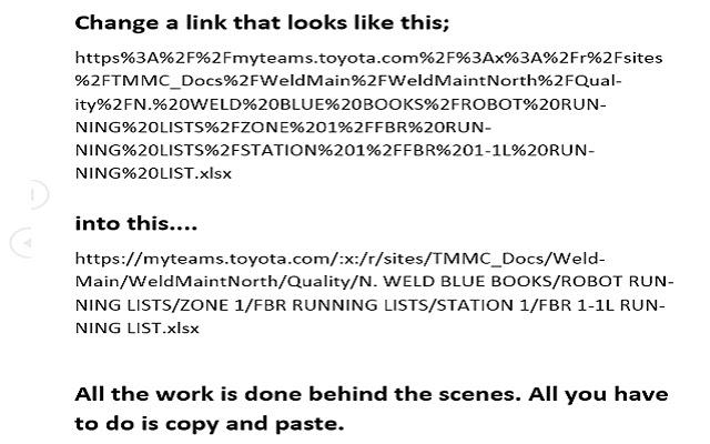 Copy URL text