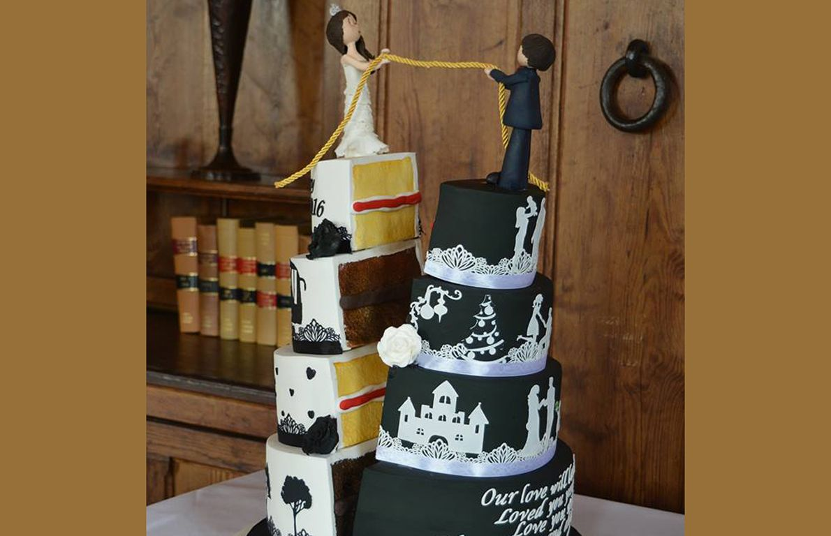 40 Jaw-Dropping Wedding Cakes