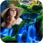 Waterfall Background Photo Frames - Photo Editor