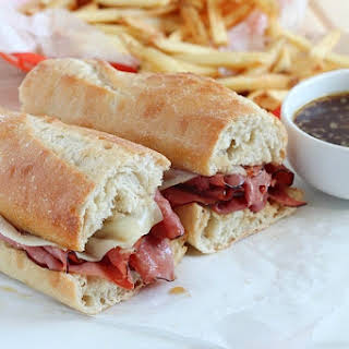 Easy French Dip Sandwiches.
