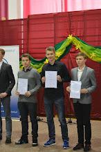 Photo: Laureaci Wojewódzkich Konkursów Przedmiotowych 2014 - B. Pieszko 3d (drugi z prawej)
