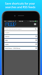 Warp News -Listen to your news- screenshot thumbnail