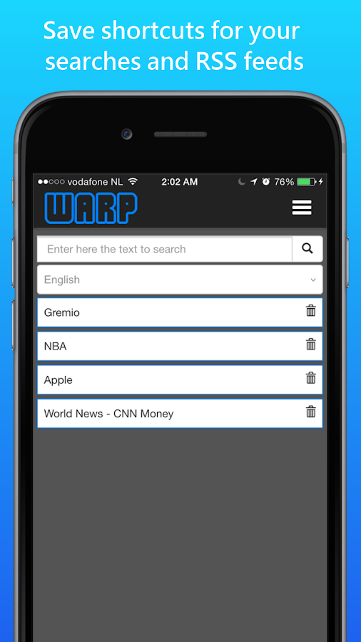 Warp News -Listen to your news- screenshot