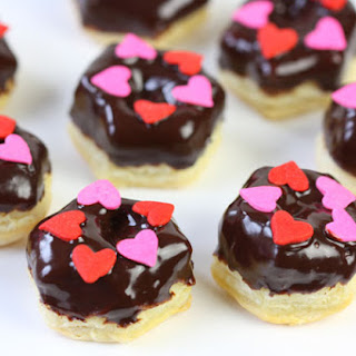 Mini Chocolate Pastry Donuts