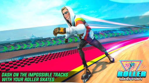 Sky Roller Skate Stunts Racing – Impossible Tracks apklade screenshots 1