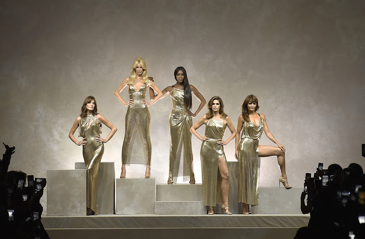Versace's Golden Hour: Naomi Campbell, Cindy Crawford, Claudia Schiffer, Helena Christensen and Carla Bruni
