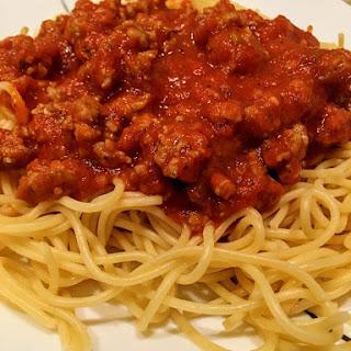 Upgraded Weeknight Spaghetti.