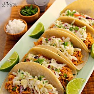 Slow Cooker Pollo Tacos al Pastor