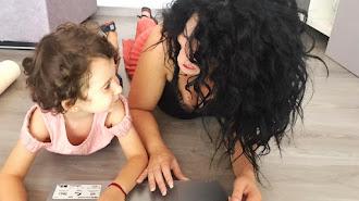 La coach Rosa Uroz junto a su hija