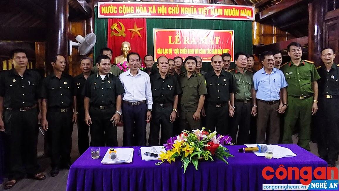 Câu lạc bộ Cựu chiến binh với công tác đảm bảo ANTT xã Châu Lý tại lễ ra mắt